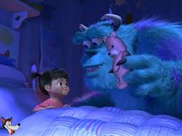 disney monsters putting boo bed