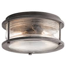Kichler Lighting Lights by Ashland Bay 2 Light Outdoor Ceiling Light In Wzc