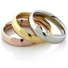tricolor ring stainless steel yellow gold and silver three ring