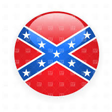 Rebel Flag Picture Confederate Rebel Flag Icon Royalty Free Vector Clip Art Image