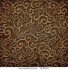 carved wooden pattern stock illustration 163358717