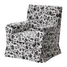 black and white chair covers ikea ektorp jennylund chair cover armchair slipcover white black