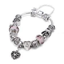crystal glass bracelet images Heart letter crystal glass bracelet berazo jpg
