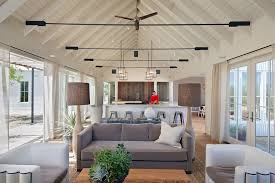 Vaulted Ceiling Open Floor Plans Cathedral Roof Trusses Living Room Farmhouse With Wood Ceiling