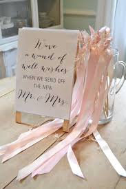 wedding send ideas ribbon wands wedding send