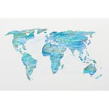 World Map Labled by Watercolor World Map Shades Of Blue New Era Portfolio Touch