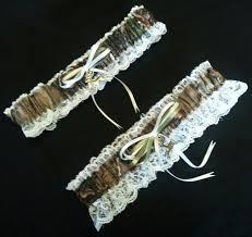 Garters For Wedding Hunting Deer Camo Camouflage Realtree Wedding Garter Set W White
