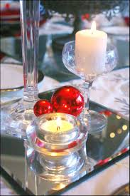 interior detail palatial christmas table decor red 208