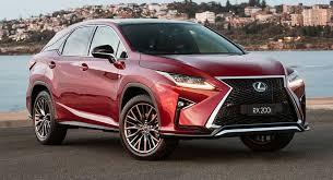 lexus vehicle models turbocharged lexus rx models receive sports variants