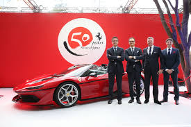 ferrari supercar 2016 ferrari celebrates 50 years in japan with new j50 limited edition
