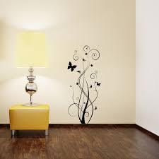 floral butterfly wall sticker removable wall stickers and wall floral butterfly wall sticker