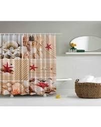 Shower Curtain Long 84 Inches Great Deals On Seaside Decor Sea Star Sea Rock Seashells Shower