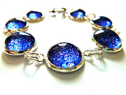 dark blue opal galaxy dark blue bracelet garden of england jewellery made with