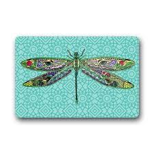 Dragonfly Indoor Outdoor Rug Online Shop Memory Home Special Design Dragonfly Grid Doormats