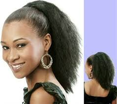 hair pony tail for african hair african american ponytail hairstyle clip in black coarse yaki