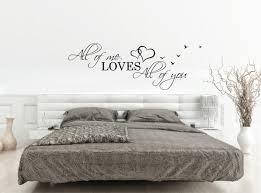 above bed wall sticker love quote always kiss goodnight above bed wall decal quote all loves you over sticker bedroom decor hearts birds love