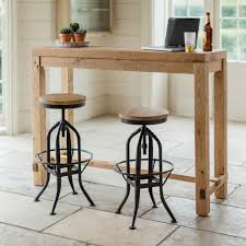 how tall is a bar table reclaimed industrial 4 seater chic tall poseur table wood metal