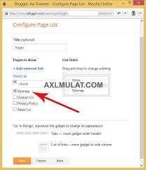 Sitemap Blog How To Create Sitemap Page In Blogger Blog Step By Step