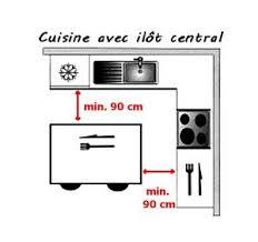 dimension ilot cuisine plan de cuisine l aménager de 1m2 à 32m2
