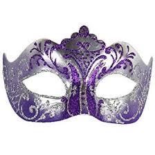 purple and silver stella colombina venetian masquerade mask