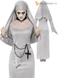 ladies halloween white ghost mother superior scary mary nun fancy