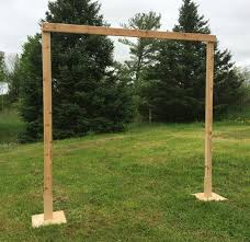 wedding backdrop measurements 3 white cedar wedding arch arch weddings and storybook