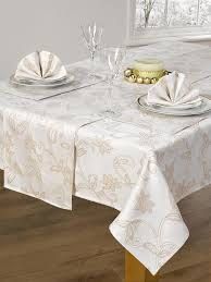 gold christmas table runner christmas table napkins 4 piece set glistening holly cream gold 16