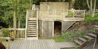 Decking Ideas For Sloping Garden Photo Gallery Of High Decks And Decking With Steps By Topdeckuk