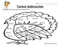 thanksgiving turkey math worksheet festival collections
