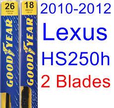 lexus hs 250h dimensions amazon com 2010 2012 lexus hs250h wiper blade passenger