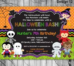 Halloween Birthday Invitations Free by Invitation Halloween Potluck Invitation Template