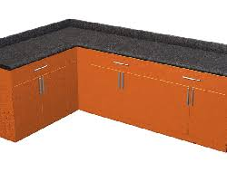 cuisine orange et noir element cuisine design