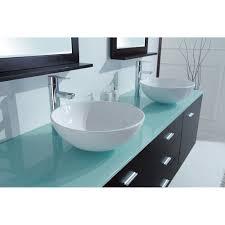 Glass Bathroom Vanity Tops by Luna 72 Inch Wall Mounted Double Sink Vanity Glass Top Espresso