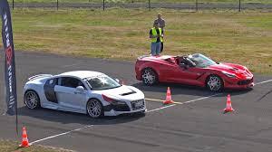 corvette vs audi r8 audi r8 prior design gt650 vs chevrolet corvette c7 prior design