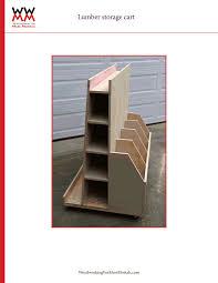 wwmm lumber storage cart pdf shop projects pinterest lumber