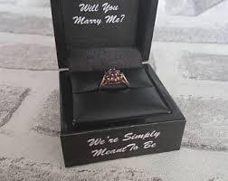 nightmare before christmas wedding rings christmas ring box etsy
