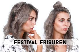 Frisuren Mittellange Haare Dutt by Festival Frisuren Boho Halboffen Für Mittellange Haare