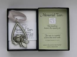 personalized remembrance ornaments memorial tear ornament