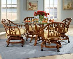 dining table with caster chairs dining caster chairs kitchen tables and more blog kitchen table and