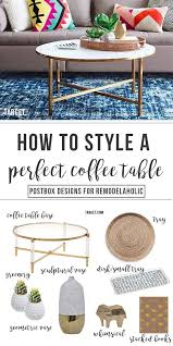 Style A Coffee Table Remodelaholic The 6 Step Formula To Style The Coffee Table