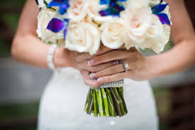 blue orchid september wedding minnesota florist kmb floral
