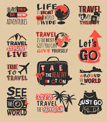 travel phrases images Travel motivation text quote phrases badge vector logo jpg