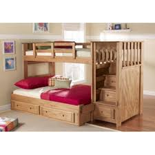 Twin Over Full Bunk Bed With Stairs Berg Furniture Enterprise - Stairway bunk bed twin over full