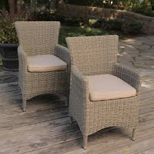 bella all weather wicker patio dining chair set of 2 outdoor