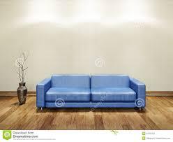 blue leather sofa stock illustration image of house 33707372