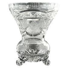 Ruby Vases Vintage Cut Glass Crystal Vase Etched Roses Cut Glass Crystal