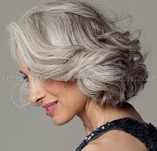 trendy gray hair styles short hairstyles over 50 wavy bob hairstyle for grey hair