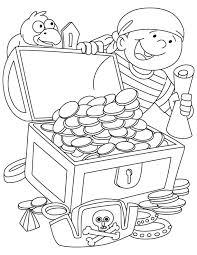 pirate treasure chest coloring download free pirate