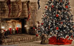 warm christmas fireplace wallpaper freechristmaswallpapers net