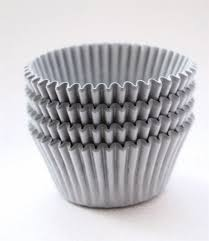 gray cupcake liners solid gray bakebright greaseproof cupcake liners